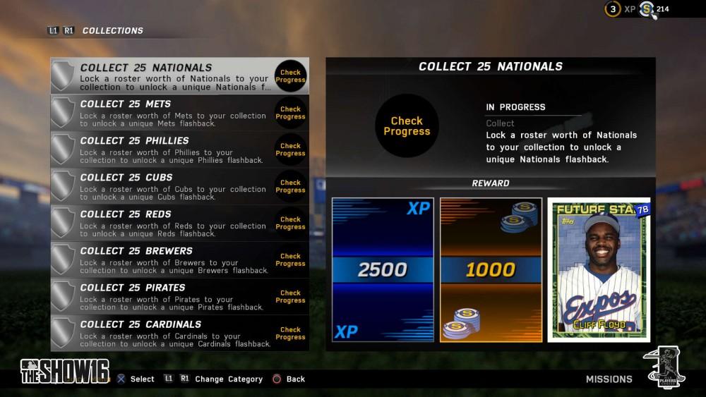 MLB 16 Missions Team Collect Floyd Flashback