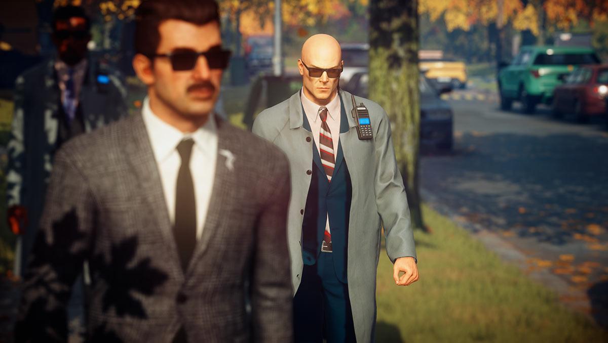 Agent 47 déguisé en garde