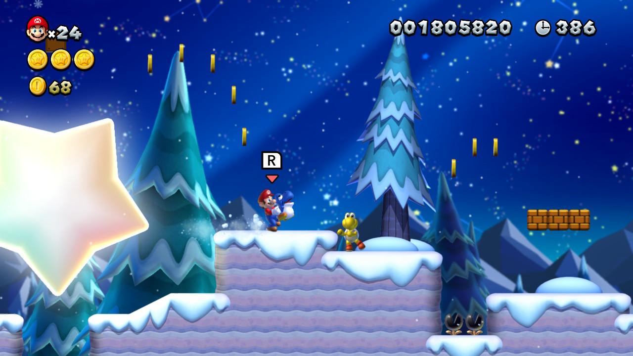 New Super Mario Bros. U Deluxe - Neige
