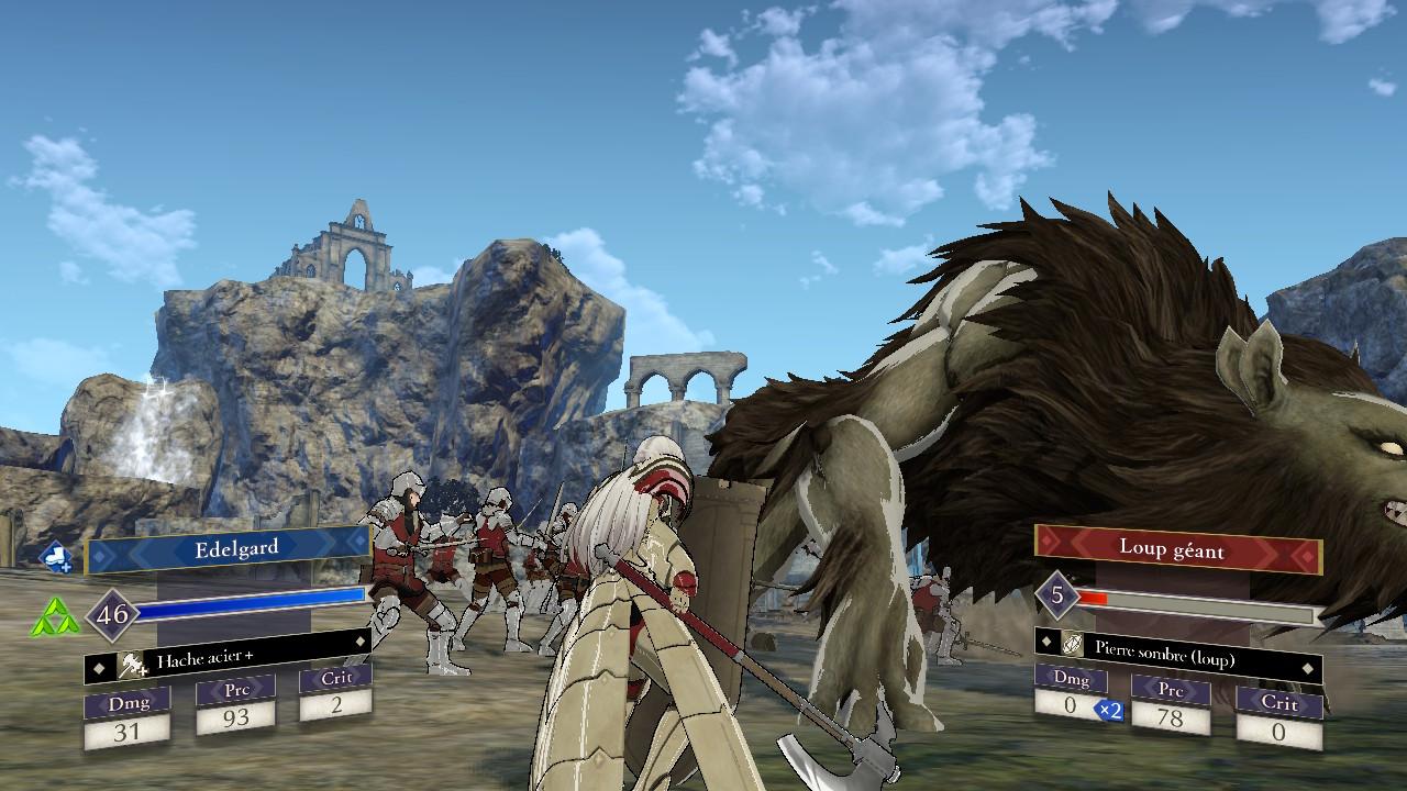 Edelgard Three Houses et une créature mythique