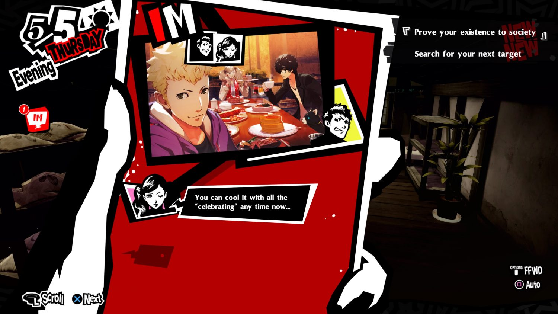 Persona 5 Royal texto