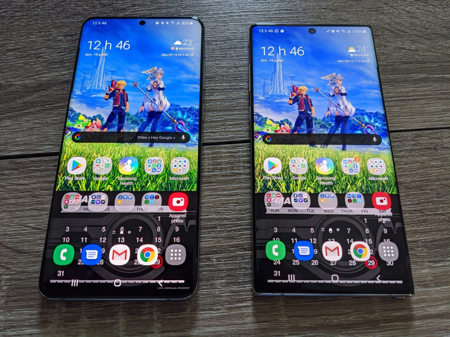 S20 Ultra 5G Note10+ comparaison