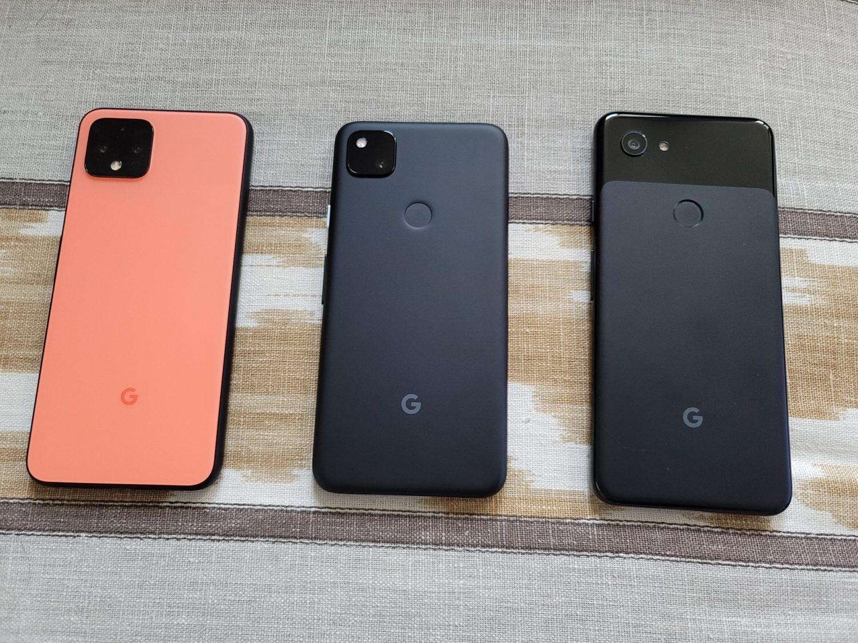 Pixel 4, Pixel 4a et Pixel 3a