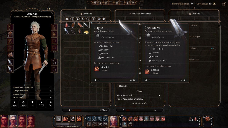 Baldur's Gate 3 personnage