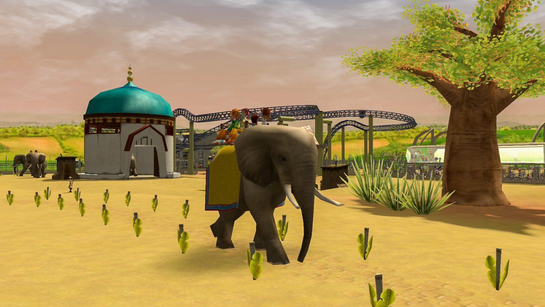RollerCoaster Tycoon 3 elephant