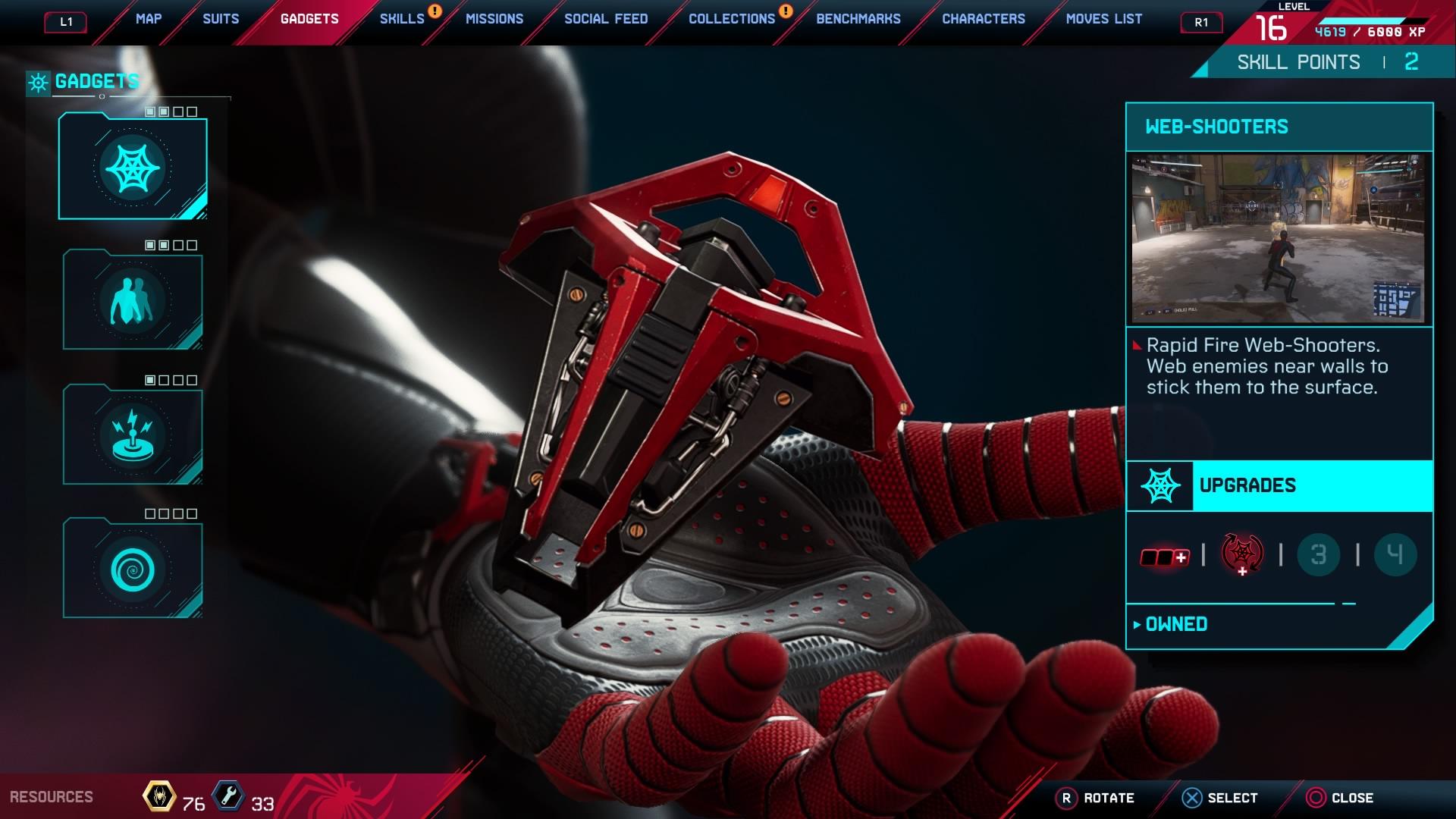 Marvel's Spider-Man: Miles Morales - Gadgets