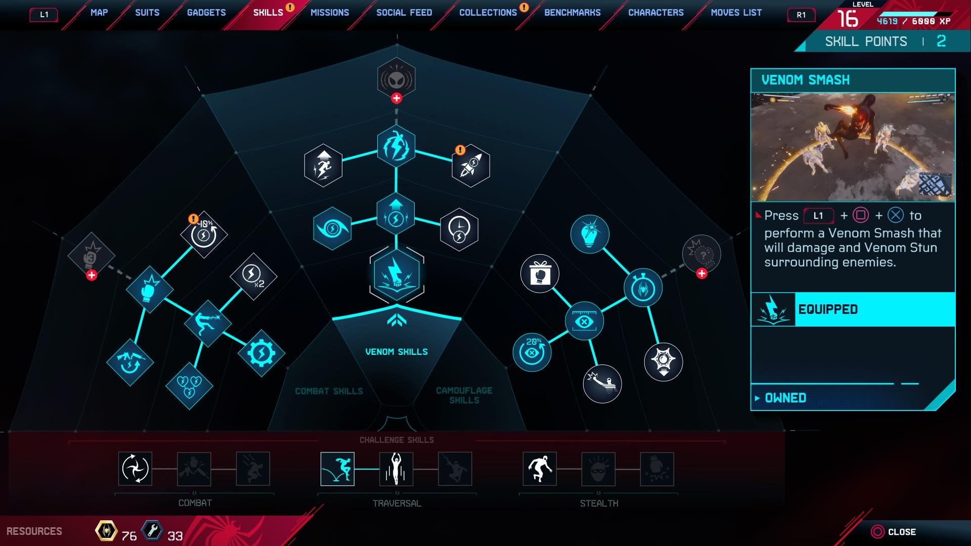 Marvel's Spider-Man: Miles Morales - Skills