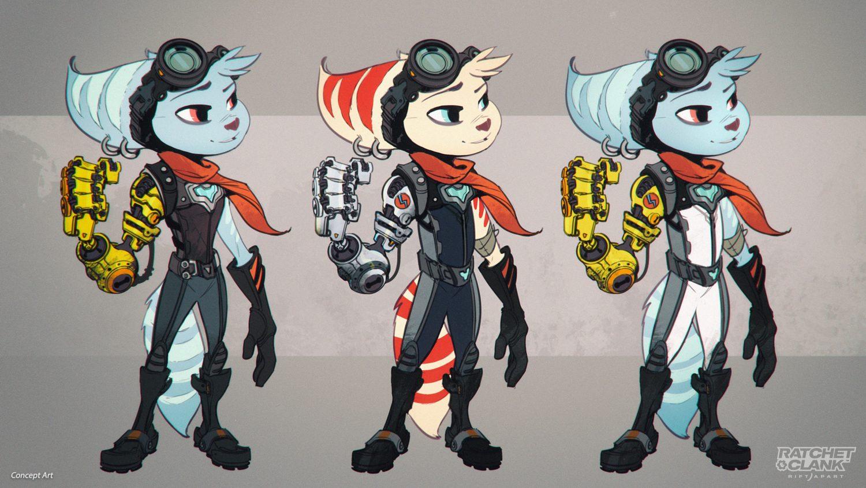 Ratchet & Clank: Rift Apart Concept Art Rivet