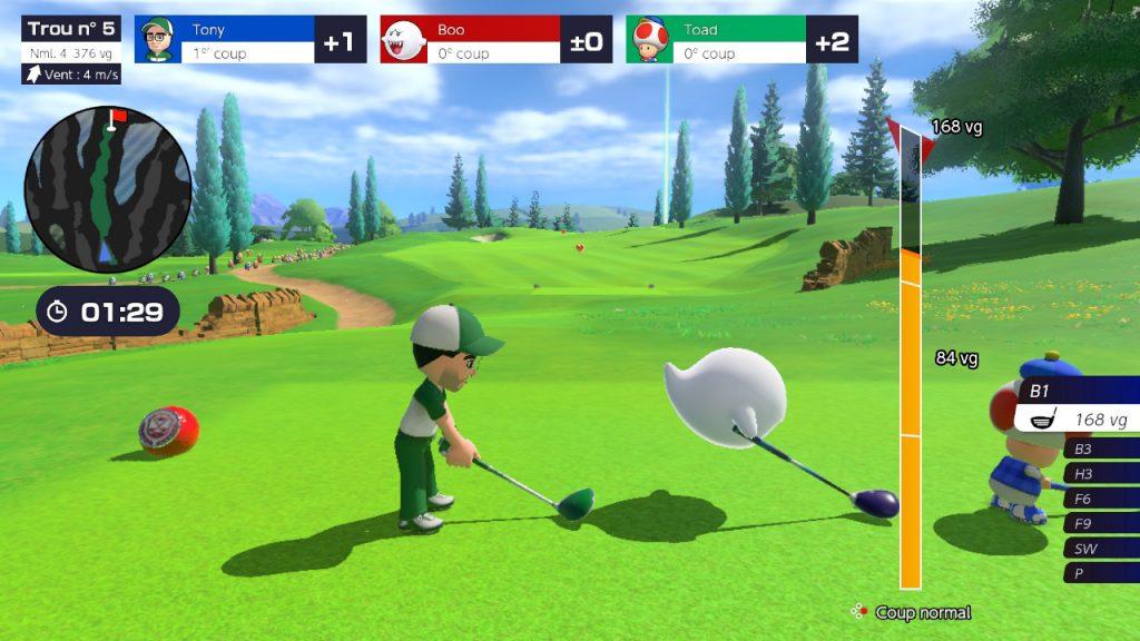 Mario Golf: Super Rush Mii et Boo