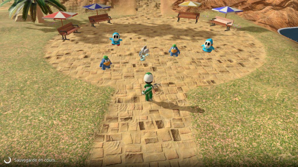 Mario Golf: Super Rush Mii désert