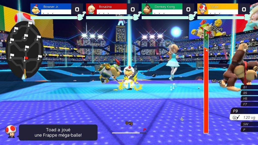 Mario Golf: Super Rush bataille